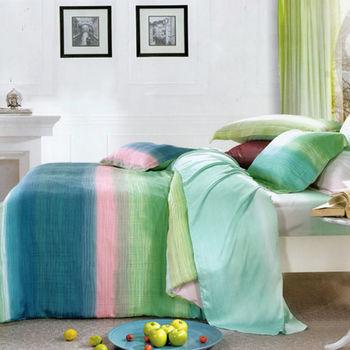【KOSNEY】時尚風華  雙人100%天絲TENCEL四件式兩用被床包組