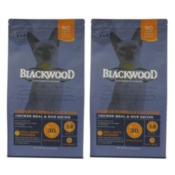 【Blackwood】柏萊富 室內貓全齡優活配方(雞肉+米)13.23磅 X 2包