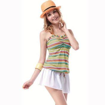 【SAIN SOU】大女連身兩件式泳裝附泳帽A92361