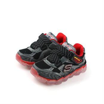 SKECHERS 運動鞋 黑紅 小童 no343