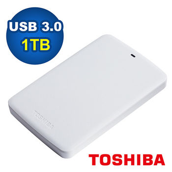 【TOSHIBA】二代 白靚潮 1TB USB3.0 2.5吋行動硬碟 HDTB310AW3AA (白)