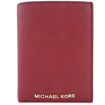 MICHAEL KORS Jet Set 防刮皮革掀蓋式卡夾(兩色選)
