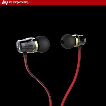 [買一送一] B.FRiEND 黑紅 EP01 全銅腔體入耳式耳機 ( 出貨即2入組 )