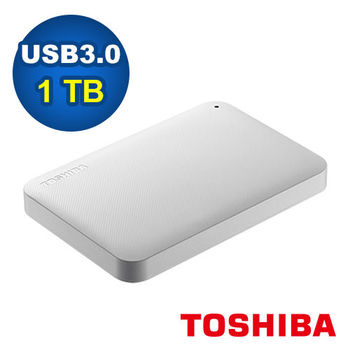 Toshiba Canvio Ready 1TB USB3.0 2.5吋行動硬碟-白