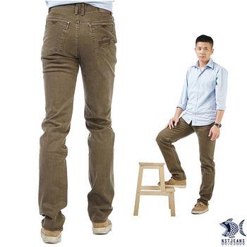【NST Jeans】385(6862) 綠野咖啡色 狩獵裝復古風格牛仔褲(中低腰窄版)