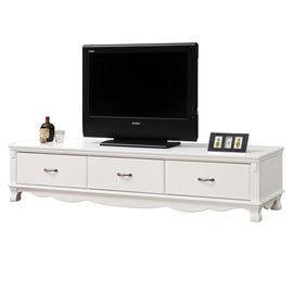 【時尚屋】[UZ6]凡尼斯6.6尺烤白電視櫃UZ6-215-5