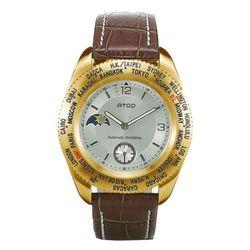 ATOP世界時區雋永經典腕錶