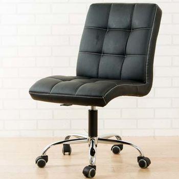 BuyJM 方塊鐵腳PU輪皮面辦公椅/電腦椅