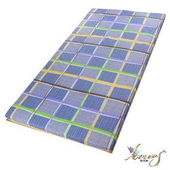 依文絲 色彩拼接藍日式碳化便利床墊-單人3X6.2尺
