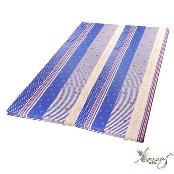 依文絲 藍海繁星日式純棉中青便利床墊-加大6X7尺