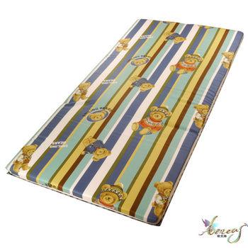依文絲 樂蒂玩偶熊日式純棉中青便利床墊-單人3X6.2尺