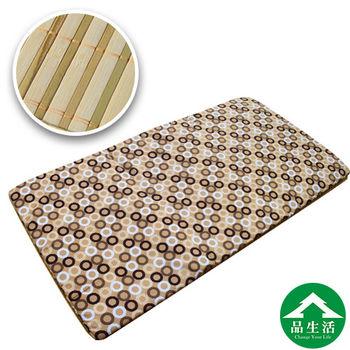 【品生活】冬夏兩用青白鋪棉床墊5x6尺雙人(普普風咖啡)