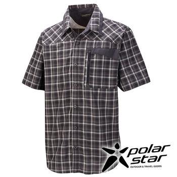 PolarStar 吸濕排汗抗UV短袖襯衫 男『暗灰』 P16137