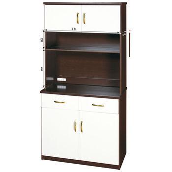 【顛覆設計】潮濕剋星-防水塑鋼3x6尺餐櫃/碗碟櫃