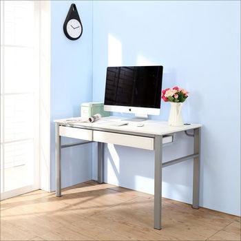 BuyJM 低甲醛仿馬鞍皮120公分雙抽屜穩重型電腦桌