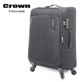 【crownhouse】簡約時尚 20吋耐磨抗壓商務旅行箱(純黑)