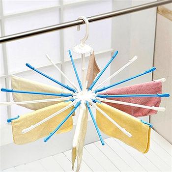 【買達人】傘型旋轉曬衣架-2入