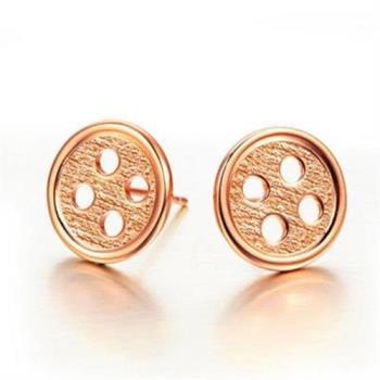 【米蘭精品】925純銀耳環耳針式耳飾韓國鈕釦