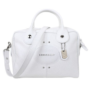 LONGCHAMP Quadri 系列皮革手提手提肩背包(白色)