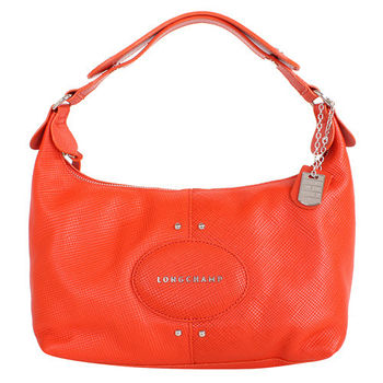 LONGCHAMP Quadri 系列皮革手提包(橙色)