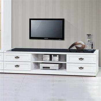 【時尚屋】[UZ6]千億白色7尺電視櫃UZ6-216-2