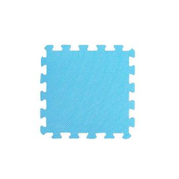 【新生活家】EVA抗菌地墊32x32x1cm-活力藍30入