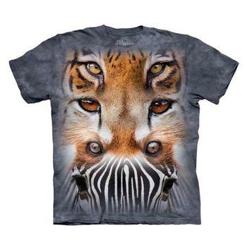 【摩達客】(預購)美國進口The Mountain  動物之眼 純棉環保短袖T恤