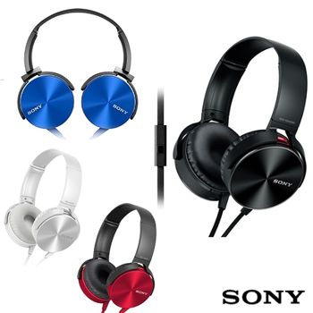 SONY MDR-XB450AP 重低音立體聲耳罩式線控耳機麥克風