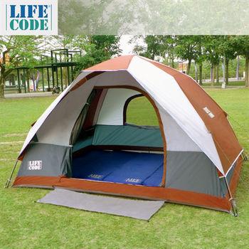 LIFECODE《立可搭》豪華5-6人雙層速搭帳篷-高183cm-咖啡色