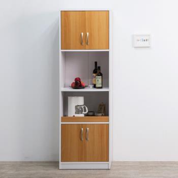 【尼克斯】多功能四門二格廚櫃