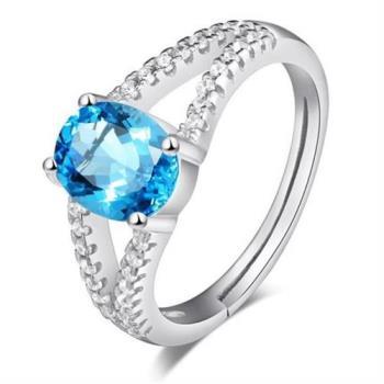 【米蘭精品】925純銀戒指水晶純銀戒指