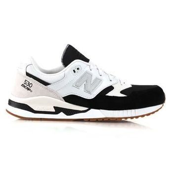 【NEWBALANCE】男復古休閒鞋530系列- NB 紐巴倫 黑白