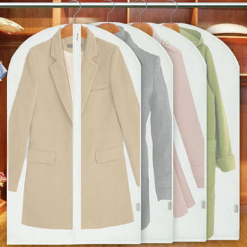 【挪威森林】高質感半透明衣物防塵套/防塵罩/西裝套_大款 60*100cm