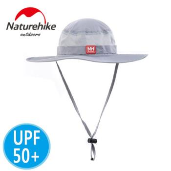【Naturehike】UPF50+經典款速乾透氣漁夫帽/遮陽帽/防曬帽(灰色)