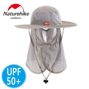 【Naturehike】UPF50+輕量款速乾護頸遮陽帽/防曬帽(卡其)
