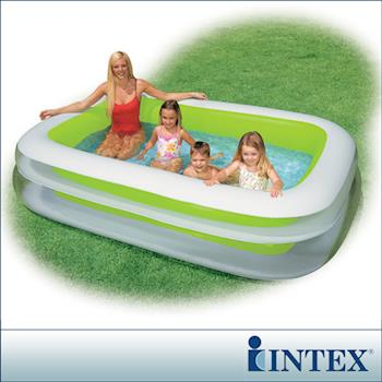 【INTEX】長方型綠色透明游泳池 (56483)