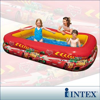 【INTEX】CARS迪士尼卡通長方型游泳池(749L) (57478)