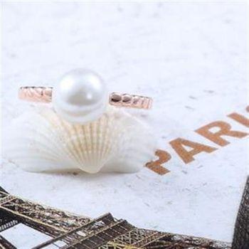 【米蘭精品】925純銀戒指珍珠純銀戒指典雅
