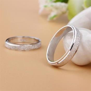 【米蘭精品】925純銀戒指鑲鑽情侶對戒浪漫真愛(單件)