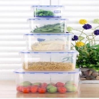 【協賀】微波爐便當盒塑料保鮮盒套裝5件套