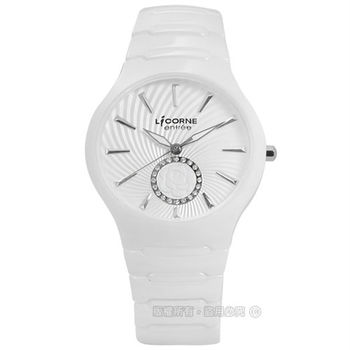 LICORNE 力抗 / LT096LWWI-W / entree 閃耀動人時光陶瓷手錶 銀x白 36mm