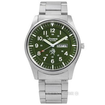 LICORNE 力抗 / LT101MWGA / entree 立即掌握日期星期不鏽鋼手錶 墨綠色 41mm