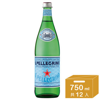 【聖沛黎洛】氣泡礦泉水 (750mlx12瓶)