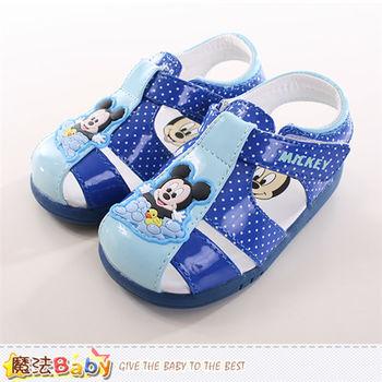 魔法Baby 寶寶鞋迪士尼米奇正版寶寶外出鞋~sh9734