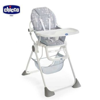 chicco-Pocket Lunch 輕巧高腳餐椅-銀灰