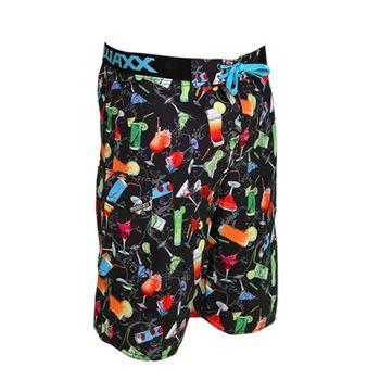 《WAXX》 繽紛雞尾酒高質感運動快乾型男海灘衝浪褲