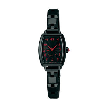 【agnes b.】法式手繪 搖滾時尚個性女錶-黑/19mm(1N01-0RZ0X/BC3090P1)