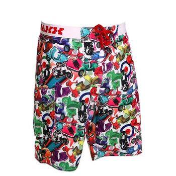 《WAXX》 懷舊普普偉士牌高質感運動快乾型男海灘衝浪褲