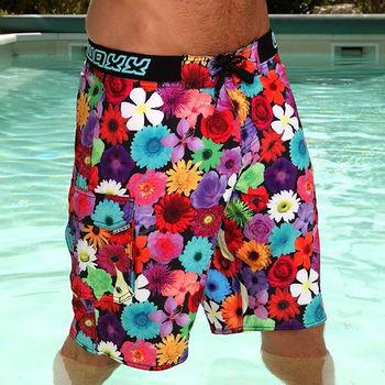 《WAXX》百花齊奔放高質感運動快乾型男海灘衝浪褲