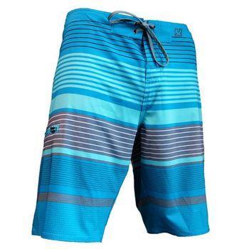 《WAXX》藍灰拼接高質感吸濕排汗運動男海灘衝浪褲